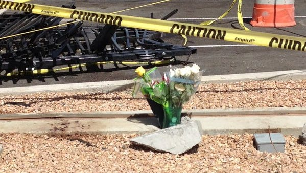 Flowers were placed at the scene of an accident in which a Chapin High School student was killed in a car crash Friday.