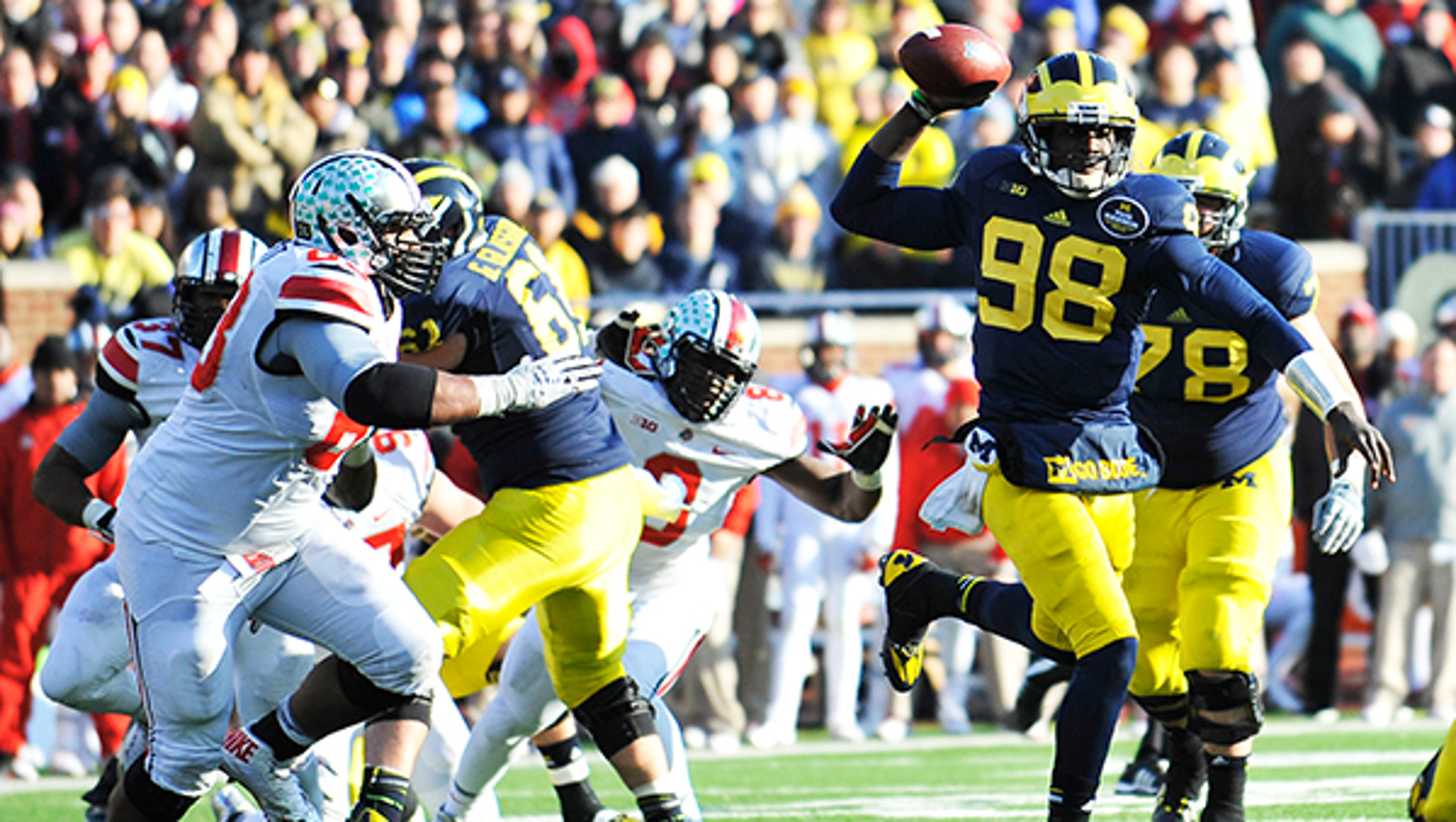 Hoke Meets With Hackett But Topic Is Ohio State Game