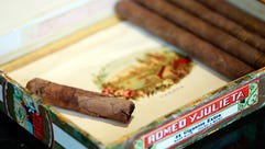 A collection of Sir Winston Churchill's wartime cigars,