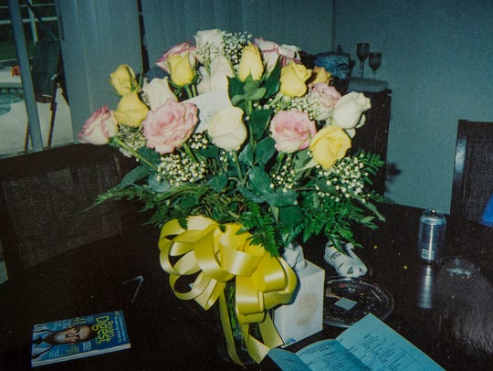 Roses that Marcie Keithley and Roger Roth sent to Jessica