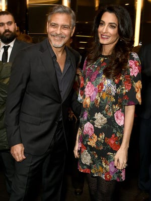 George and Amal Clooney attend the Netflix special screening and reception of 'The White Helmets' hosted by The Clooney Foundation For Justice on Jan. 9.