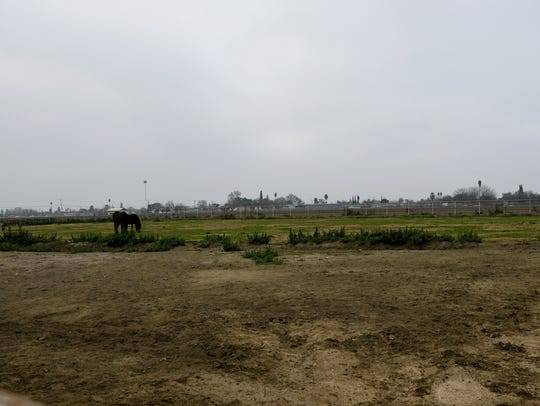 The field adjacent to the current Tulare High School