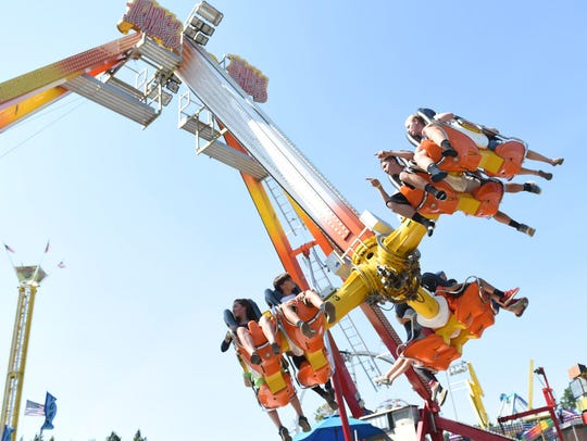 The Khaos ride at the Dutchess County Fair in Rhinebeck