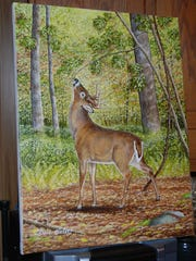 Dave Kintzel has created several pieces of art depicting whitetails.