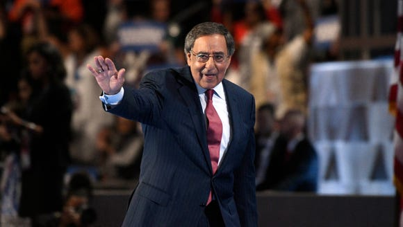 Former secretary of Defense Leon Panetta exits the