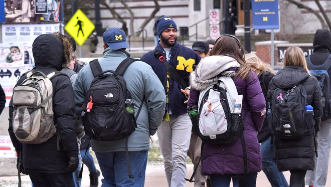 Former Wolverine and NFL wide receiver Braylon Edwards currently is taking four classes at the University of Michigan and has an internship in the athletic department.