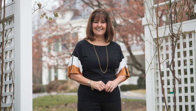 Second Lady Karen Pence in The Family Heritage Garden of the Vice President at Number One Observatory Circle, the vice president's residence located on the northeast grounds of the U.S. Naval Observatory in Washington, D.C.