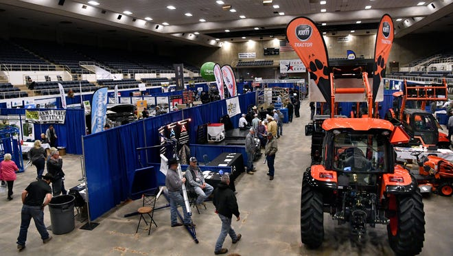 The rain was a hot topic at the Texas Farm-Ranch-Wildlife Expo at the Taylor County Coliseum Tuesday.