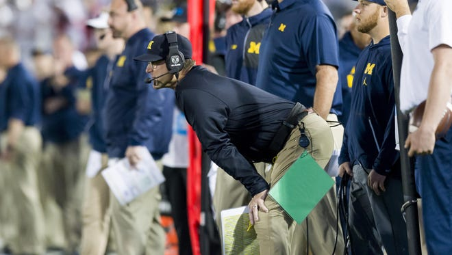 Jim Harbaugh, entering his fourth season as head coach, has added a transfer quarterback and new assistants since going 8-5 in 2017.