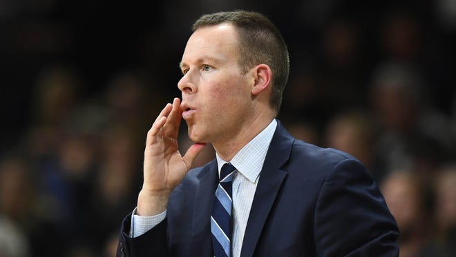 Dec 7, 2016; Boulder, CO, USA; Xavier Musketeers associate head coach Travis Steele during the second half against the Colorado Buffaloes at the Coors Events Center.