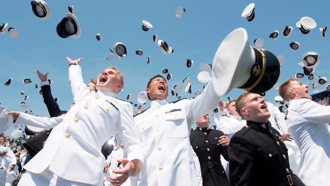 Naval Academy's graduation ceremony in Annapolis, Md., on May 25, 2018.