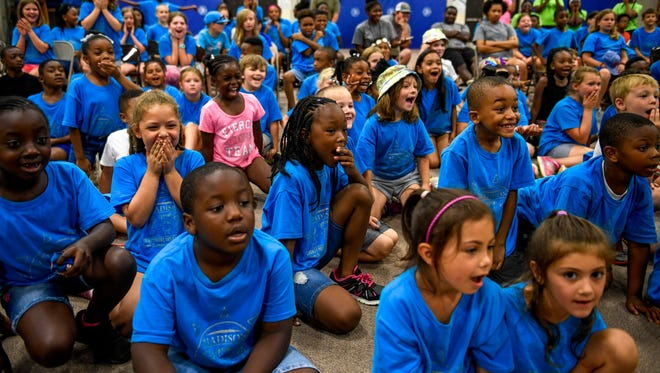 A file photo of  kids at the 2018 Parks and Recreation Summer Camp at Nova Elementary School in Jackson, Tenn., Thursday, July 12, 2018 as they watch Michael Clayton, a magician out of Memphis, Tennessee, perform.