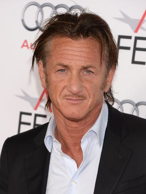 Sean Penn attends the premiere of 'The Secret Life of Walter Mitty' on Nov. 13 in Hollywood.