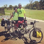 Skye and Ethan Felsing, who plan to ride 3,100 miles across the United States to fund a scholarship for people recovering from drug and alcohol addiction.
