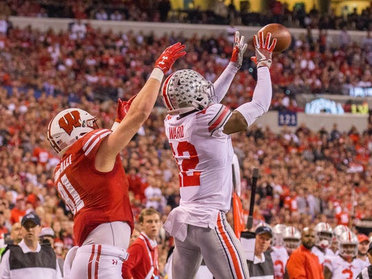 The Bills could certainly use help at cornerback and Ohio State Denzel Ward is a possibility at No. 12.