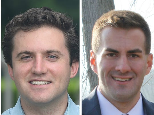 James Skoufis (left) and Colin Schmitt are running for the 99th state Assembly seat.