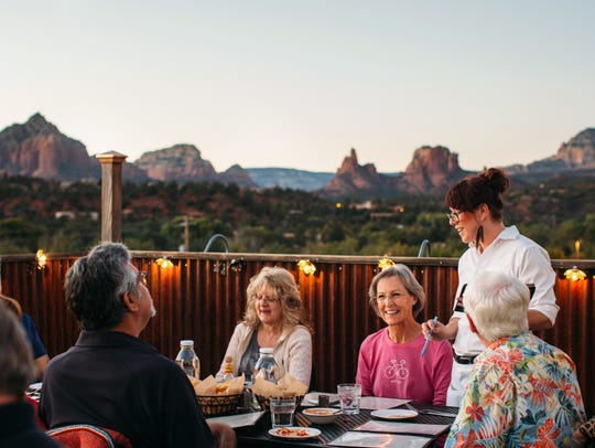 Elote Cafe has beautiful views of Sedona.