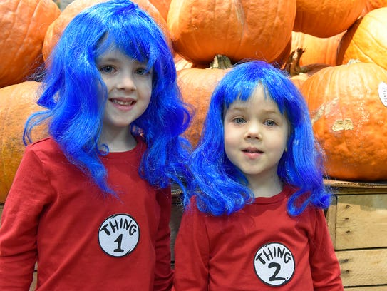 Thing 1 and Thing 2 -- Mikaela LeBlanc, 4 years old,