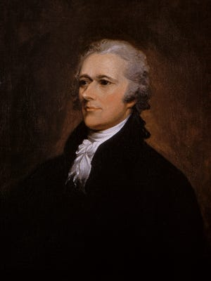 Alexander Hamilton portrait by John Trumbull.