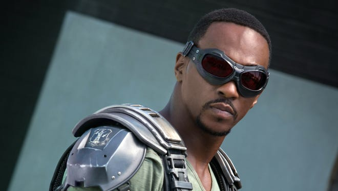 """Falcon/Sam Wilson (Anthony Mackie) in a scene from the motion picture """"Marvel's Captain America: The Winter Soldier."""""""