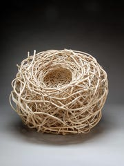 """""""Nest"""" by Jeanne Drevas is part of """"The Nature of Things: Oregon Artists Explore the Tree in Art,"""" an exhibition of work by a variety of Oregon artists that use trees through process, material, or image. The exhibition runs through Dec. 24 at the Bush Barn Art Center."""