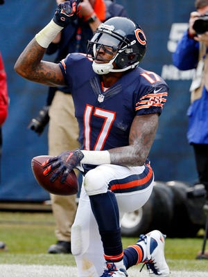Bears WR Alshon Jeffery has 21 TD catches over the past three seasons.