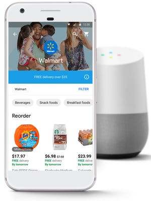 By using your voice on a Google Home smart speaker, Walmart customers can order items for 2-day shipping, for free, for orders $35 and over.