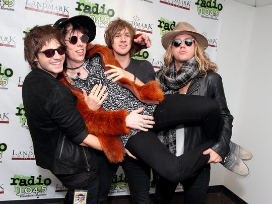 The Struts – Jed Elliott, Luke Spiller, Gethin Davies and Adam Slack – visit the Radio 104.5 Performance Theater in Philadelphia on Oct. 24, 2015.
