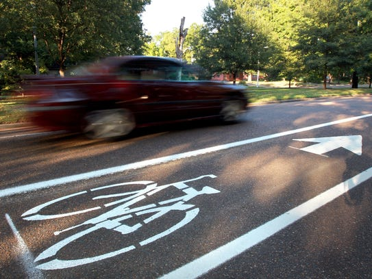 Bike lanes were added to South Parkway in 2011.
