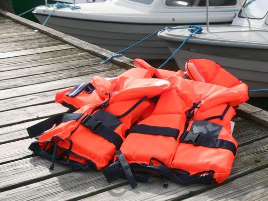 Life Jacket on deck