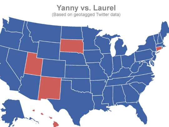 A new map unveiled where each state falls on the Yanny vs. Laurel debate.