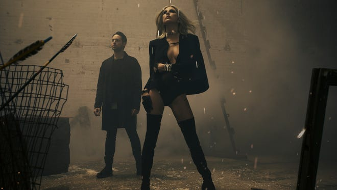 Josh Carter and Sarah Barthel of Phantogram