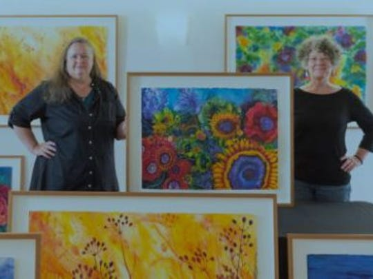 Watercolor artists Mary Kay Neumann and Helen Klebsadel