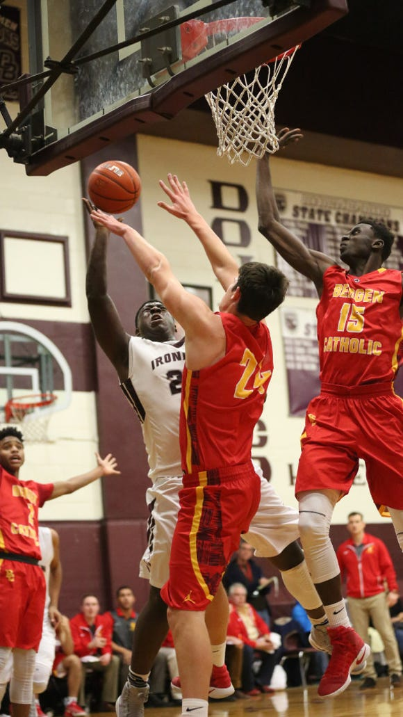 Bergen Catholic (red) and Don Bosco (white) are among the local boys basketball teams playing at Saturday's Mel Henderson Memorial Showcase at Hackensack
