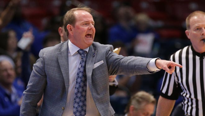 MTSU coach Kermit Davis led his team to the second round of the NCAA tournament for the second year in a row.