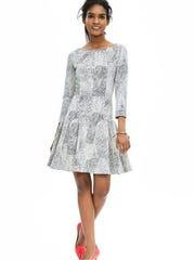 Textured Fit-and-Flare Dress, $130, BananaRepublic.com.