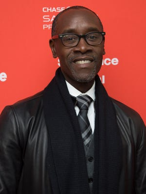 Director/star Don Cheadle poses at the premiere of 'Miles Ahead' at Sundance Film Festival.