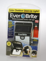 Ever Brite LED light claims to illuminate outdoor areas like never before. Available: Stores, online, TV.