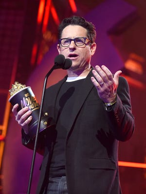 Director J.J. Abrams accepts the Movie of the Year award for 'Star Wars: The Force Awakens' onstage during the 2016 MTV Movie Awards.