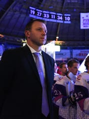Shreveport Mudbugs head coach Karlis Zirnis (with Dan