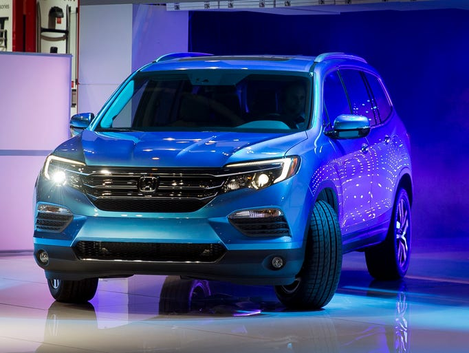 The 2016 Honda Pilot is unveiled during the media preview