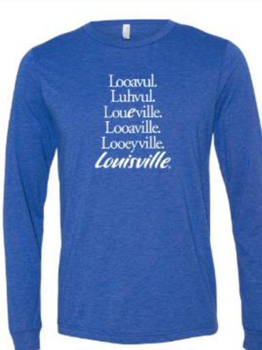 Lou Logo T Long Sleeve Blue Triblend