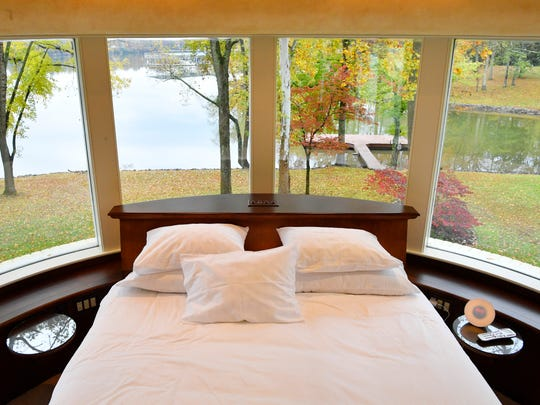 The views from the master bedroom give you a full view