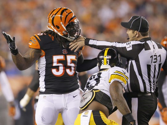Officials will be keeping an eye on Vontaze Burfict in 2016.