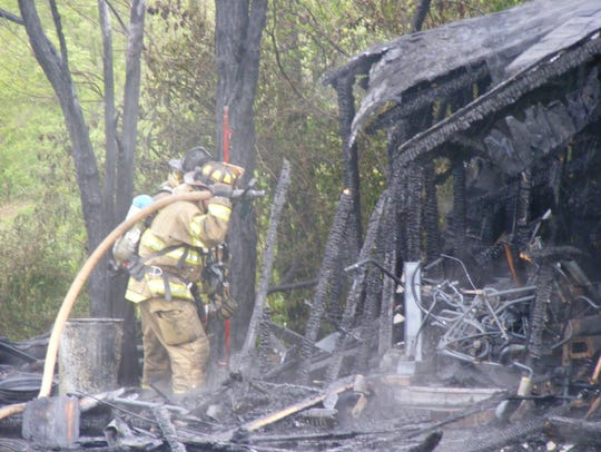A shed at 752 Ono Road, East Hanover Township, was
