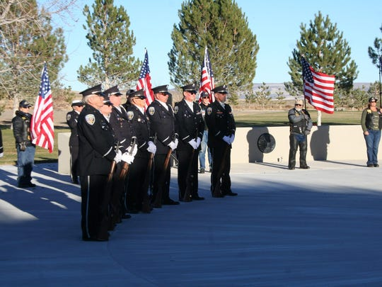 Sixteen veterans were interred into their final resting place on Nov. 17 in a ceremony that included a volley of three at the Northern Nevada Veterans Memorial Cemetery in Fernley.