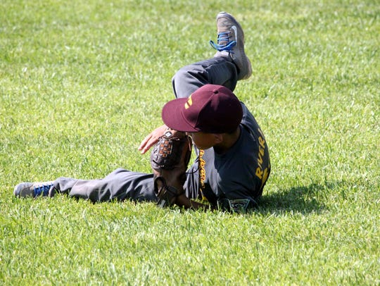 Copper All-Star Alix Rivera makes this diving catch