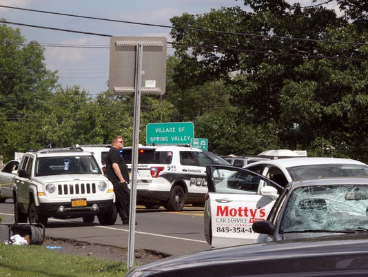 1. Car accident on Route 59