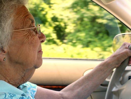 Senior Citizen Woman Driving