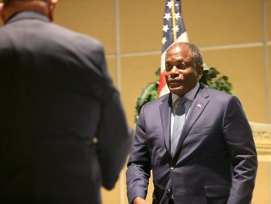 Retired Lt. General Ronnie Hawkins is honored at the